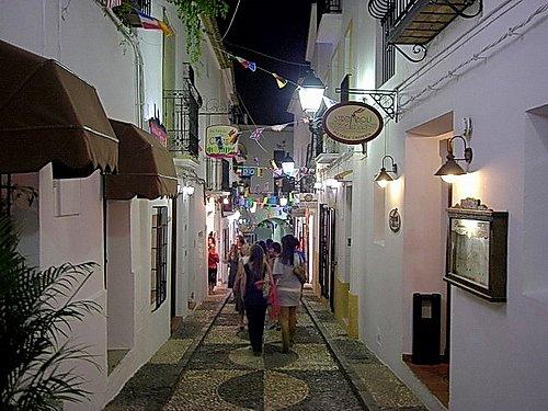 altea noche casco antiguo