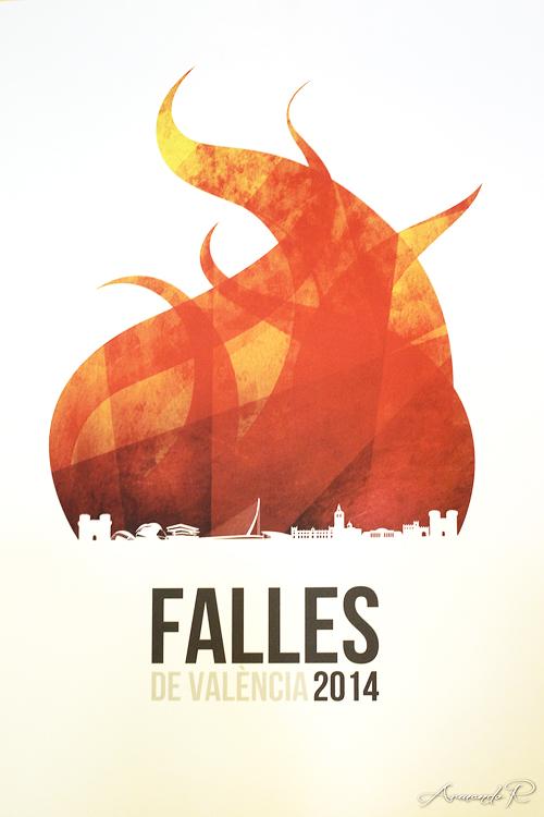 cartel anuncio fallas valencia 2014