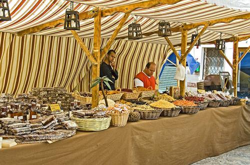 puesto mercado medieval